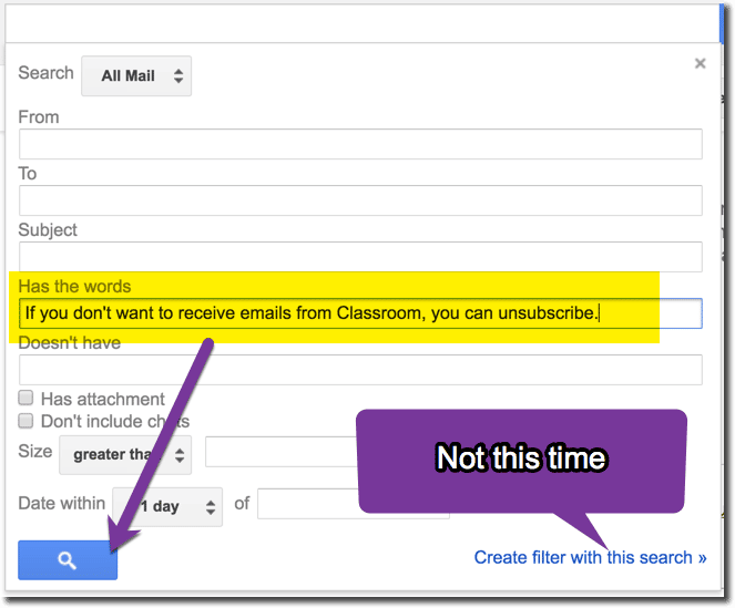Search for emails with this phrase