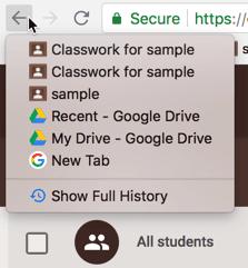 Browser Back Arrow