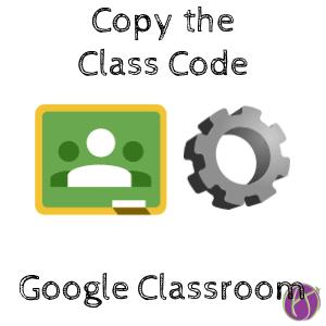 copy the class code google classroom