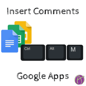 insert comments google apps