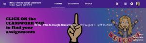 Google Classroom Header for Classroom
