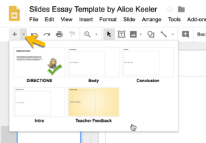 Slides Layouts for Essay