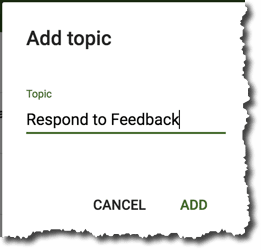 Create a Respond to Feedback topic