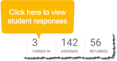 Click on the count of responses to view responses