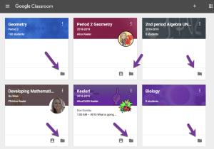 Class tiles folder icon