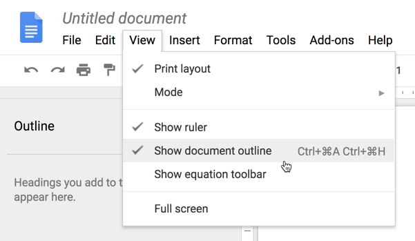 Google Docs: Document Outline - Teacher Tech