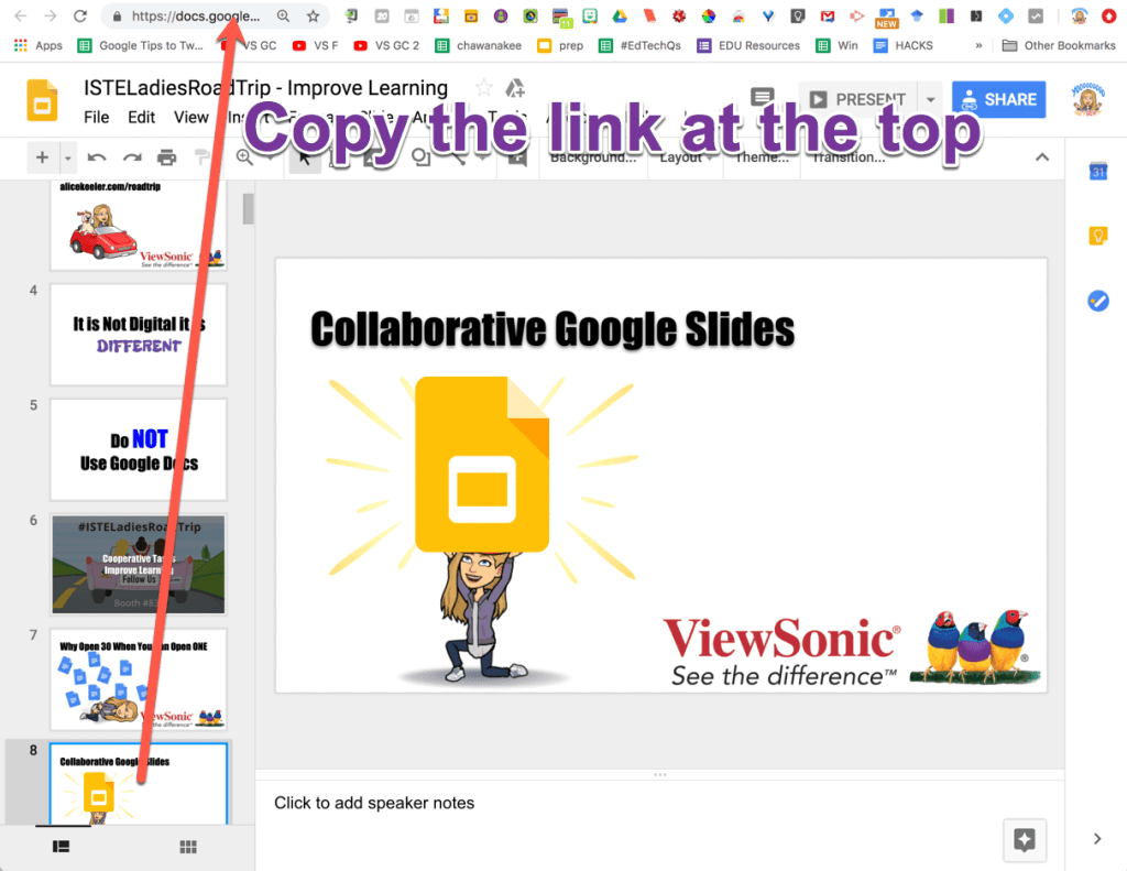 Copy the link at the top