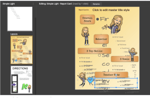 add shapes and images to the report card