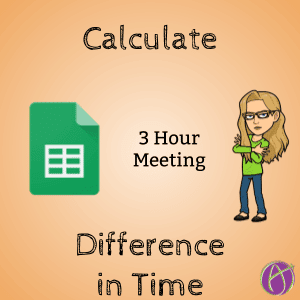 Calculate the difference in two times in Google Sheets