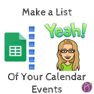 Google Sheets: What is On My Google Calendar