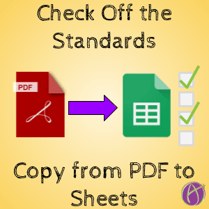Copying standards and checking them off in Google Sheets Alice Keeler