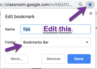 Bookmarks Bar in Chrome