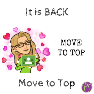 Move to top is back in google classroom