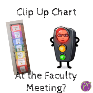 clip up chart at the faculty meeting