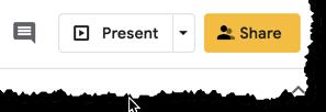 Present button in Google Slides