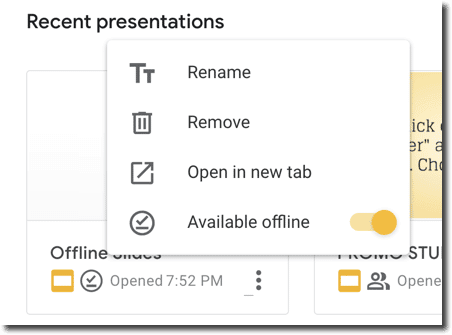 available offline in the 3 dots menu