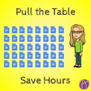 Pull the Table and save hours