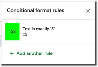 Add another conditional formatting rule