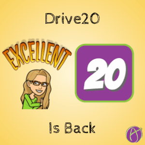 Drive 20 is BACK