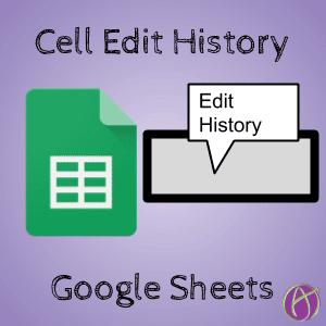 cell edit history google sheets