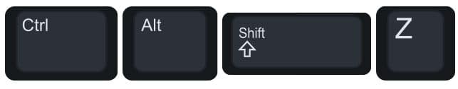 Control Alt Shift Z to switch to edit mode.