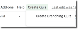 Create Branching Quiz