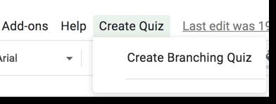 Create Branching Quiz