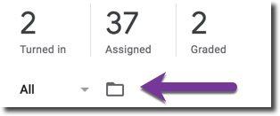 assignment folder in google classroom