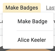 Make badges menu choose Make Badge