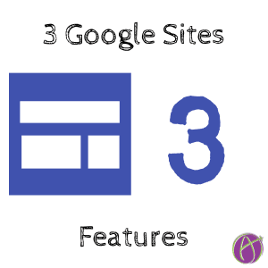 3 New Google Sites Features