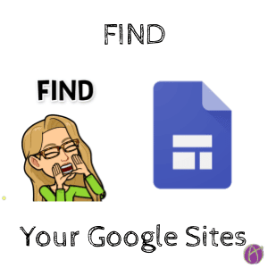 Find Your Google Sites