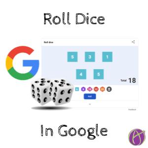 Roll Dice in Google