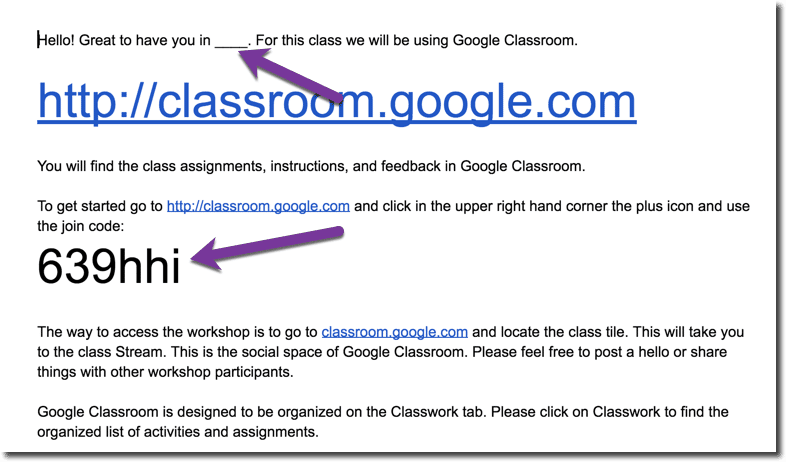 Customize the Google Doc before giving to students.