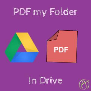 PDF my Folder in Drive