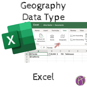 Microsoft Excel: Set Data Type as Geography