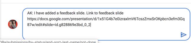 Link to Feedback Slide