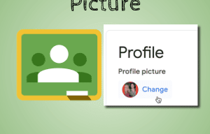 Change profile picture for Google Classroom