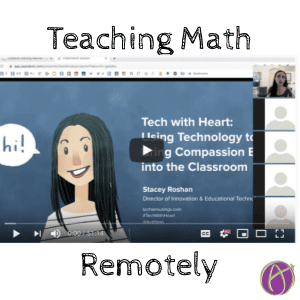 Teaching Math remotely with pear deck