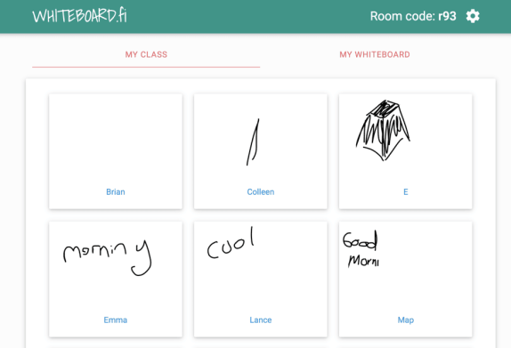 Live Session Student Whiteboards: whiteboard.fi - Teacher Tech