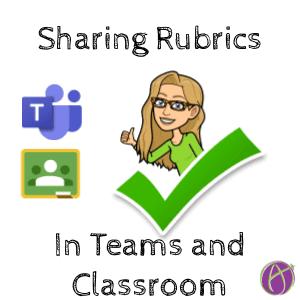 Sharing Rubrics in Teams and Classroom