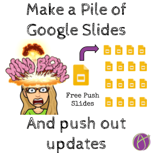 FREE!! Make a Pile of Google Slides for Students and Update Them