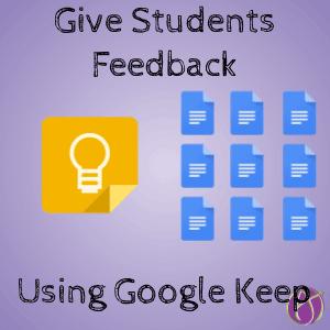 Give Checklist Feedback in Google Docs using Google Keep