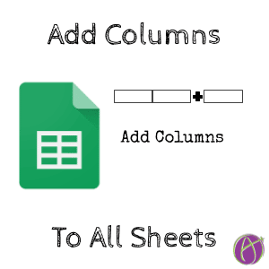 Push a Column to Each Sheet in Google Sheets