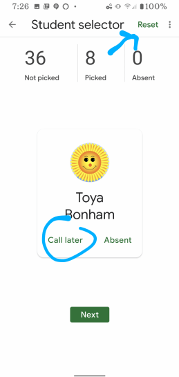 Call Later in Google Classroom App