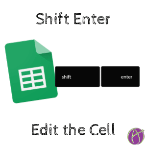 Use Shift Enter to Edit the Cell