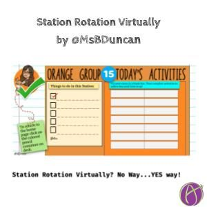 Station Rotation Virtually with @MsBDuncan