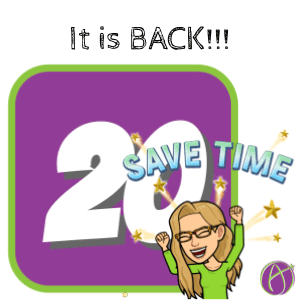 IT IS BACK! Drive20 to Save Time Grading Student Work