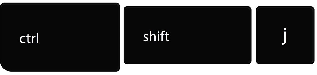 Control + shift + j moves sections down in google forms