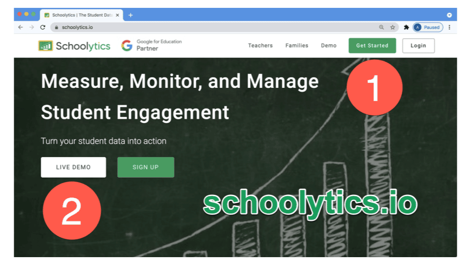 log into Schoolytics or view the live demo.
