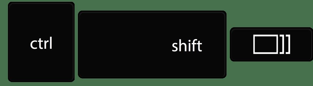 Chrome बुक पर आंशिक स्क्रीनशॉट नियंत्रण Shift Windows स्विचर कुंजी